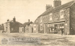 Green Lane and Post Office, Beeford 1922