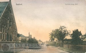 Village street and Wesleyan Chapel, Beeford 1907