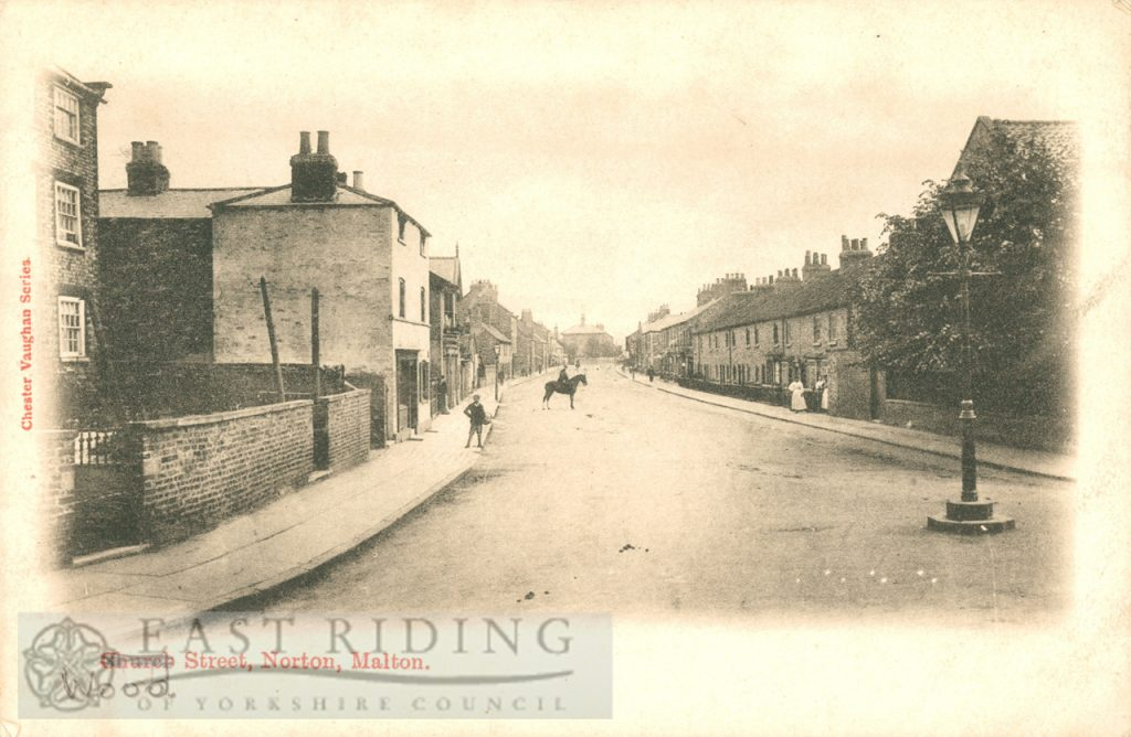 Wood Street from west, Norton 1900