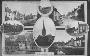 7 street scenes and church, Patrington 1912