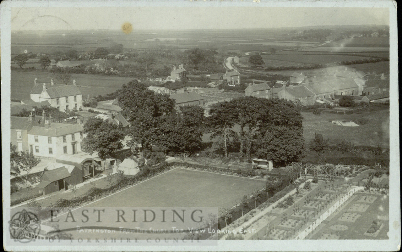 View Of Village From Church Tower, Looking East, Garden Of Bleak House In  Foreground