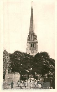 St Patrick's Church from north, Patrington 1900