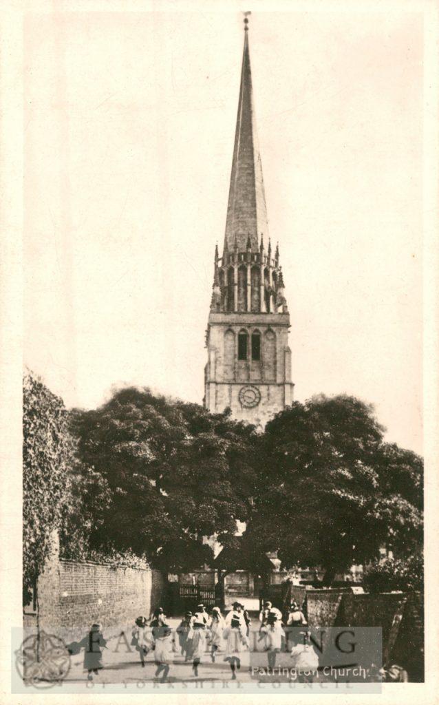 St Patrick's Church from north, Patrington 1900