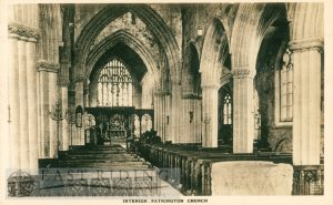 St Patrick's Church interior from west, Patrington c.1900s