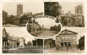 old Pocklington, parish church, George Street, Pocklington School, Wesleyan chapel, Pocklington 1915