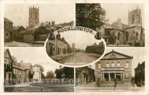 old Pocklington, parish church, George Street, Pocklington School, Wesleyan chapel, Pocklington 1915