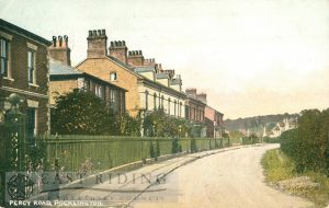 Percy Road from south west, Pocklington 1912