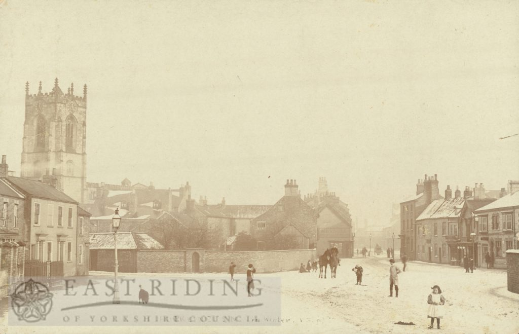 view from south west, from Railway Street level crossing, Pocklington 1900
