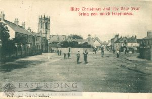 view from Railway Street level crossing, Pocklington 1903