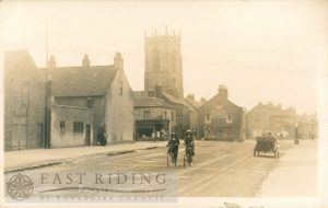 George Street and Tute Hill from north west, Pocklington 1920