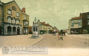 Market Place from north, Pocklington 1905