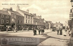 Market Place from south west, Pocklington 1900