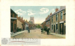 main street and church, from south, Preston 1900