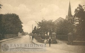 Westgate from north east, with St Andrew's Church, Rillington  1910