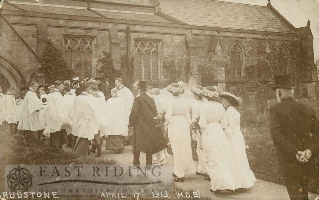 wedding of the vicar's daughter, Rudston  4856