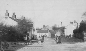 village street from south east, Sancton 1900