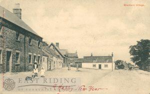 village street from south, Sherburn  1904