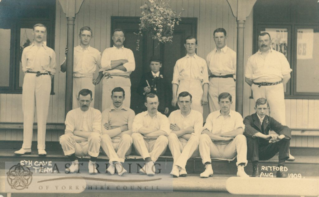 cricket team, South Cave  1909