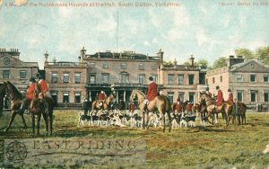 Dalton Hall from east, with meet of Holderness Hunt, South Dalton  1909