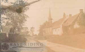 village street and church from south, South Dalton 1906