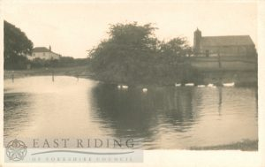 St Leonard's Church from south west and pond, Speeton  1930