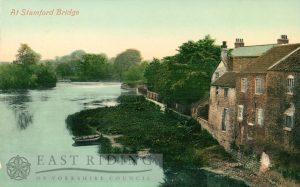 River Derwent and weir from south west, Stamford Bridge  1910