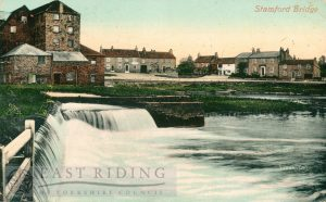 Weir, Mill and the Square from north east, Stamford Bridge  1910