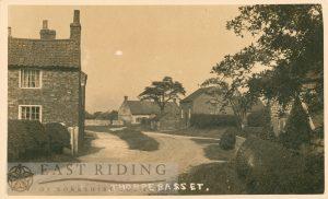 village street from south, Thorpe Bassett 1920