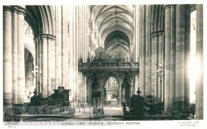 Beverley Minster interior, screen and chancel, Beverley c.1900s