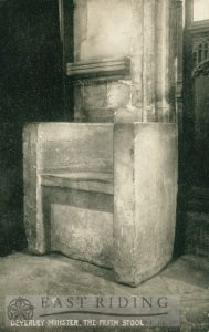 Beverley Minster interior, frith stool, Beverley c.1900s