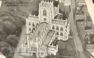 St Mary's Church, aerial view from south west, Beverley 1920s