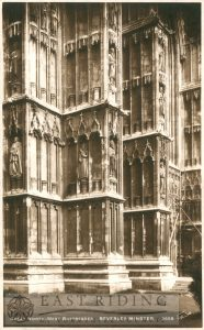 Beverley Minster, north west tower buttresses, Beverley 1897