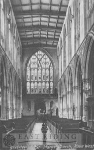 St Mary's Church interior, nave from east, Beverley 1920s