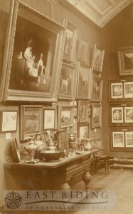 Art Gallery, Champney Road, Beverley, part of exhibition  1910