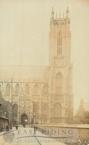 Beverley Minster, north west tower and Highgate porch from north, Beverley 1900