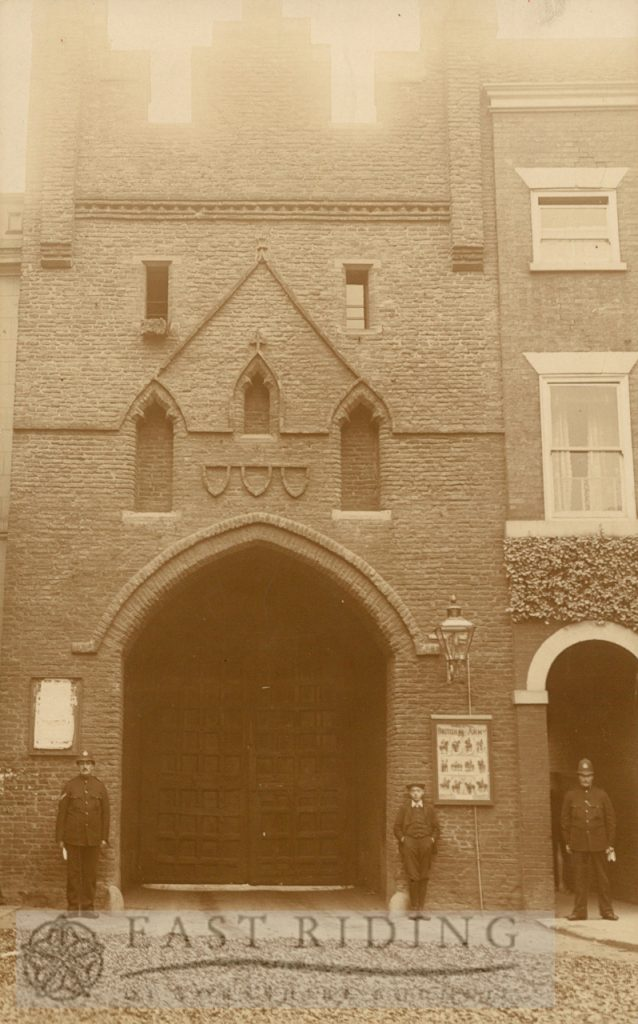 North Bar, with doors closed, Beverley 1900