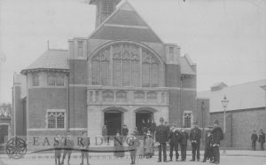 Baptist Chapel with group of people, Lord Robert's Road, Beverley 1910