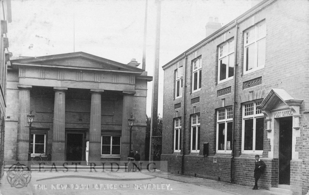 Post Office and Guildhall from south east, Beverley 1906