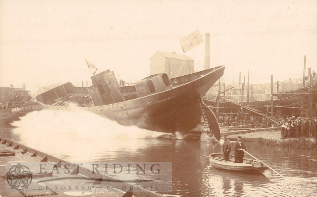 Scene at shipyard, Beverley 1900s