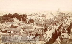 View from St Mary's tower, from north west, Beverley 1900s