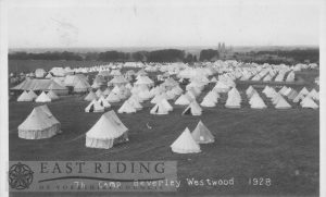 Westwood, with KOYLI Territorial camp, Beverley Jul-Aug 1928