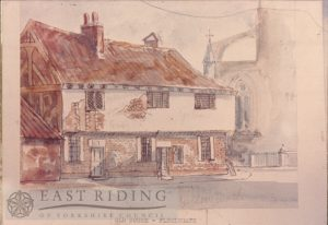 Flemingate, house at south west corner, Beverley 1890s