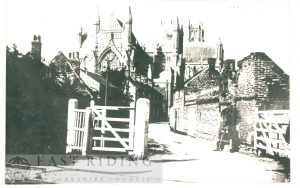 Friar Lane south west of railway crossing, from north east, Beverley 1890s
