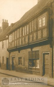 Highgate, half-timbered houses on west side, Beverley 1928