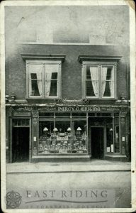 North Bar Within, No 5 shop front, Percy C Whiting, Beverley 1908