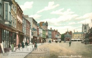 Saturday Market from south east, Beverley 1900s