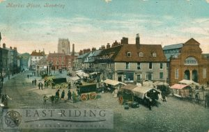 Saturday Market from south east, Beverley 1917