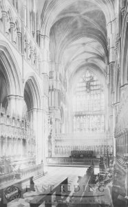 Beverley Minster interior, choir from south west, Beverley 1900s