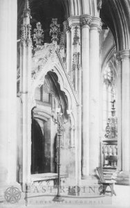 Beverley Minster interior, 'Two Sisters' tomb from north east, Beverley 1900s