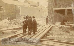 Baptist Chapel demolition, Well Lane, Beverley 1909